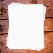 Stacked blank papers — Foto de Stock