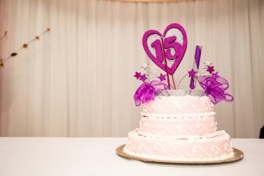 15 years birthday party cake