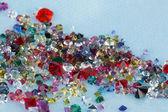 Sammlung von vielen verschiedenen natürlichen Edelsteinen. — Stockfoto