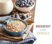 Cereals in a bowl — Stock Photo