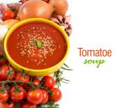 Fresh tomatoe soup — Foto de Stock