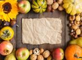 Autumn frame background — Stock Photo