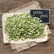 Pile of Dried Green Split Peas — Stock Photo #57521681