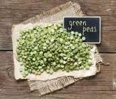 Pile of Dried  Green Split Peas — Stock Photo