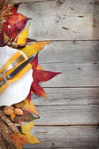 Autumn table setting - retro table setting — Stock Photo