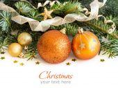 Golden Christmas decor — Stock Photo