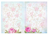Shabby chic backgrounds with roses. — Stockfoto