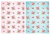 Shabby chic backgrounds with roses — Stock Photo