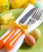 Easter table setting — ストック写真