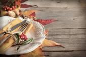 Autumn table setting — Stock Photo