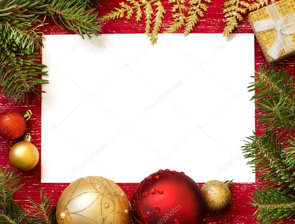 圣诞节作文纸和装饰品 — 图库照片08karissaa