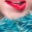 Sexy Lips. Beauty Red Lip Makeup Detail. — Stock Photo #58876451