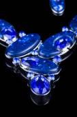 Plastic blue necklace — Stock Photo