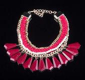Color plastic  necklace — Stock Photo