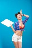 Pin-up girl v americkém stylu — Stock fotografie