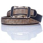 Black women style belt with metal rivets — Stock Photo #66923843
