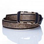 Black women style belt with metal rivets — Stock Photo #66923885