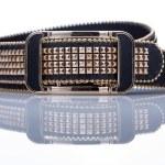 Black women style belt with metal rivets — Stock Photo #66923939