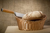 A slice of bread with butter — Stock Photo