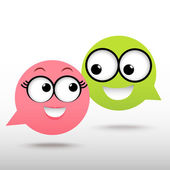 Smile talking bubble — Stock Vector
