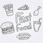 Fast-food — Vetor de Stock