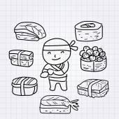Sushi boy — Vecteur