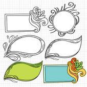 Doodle Flame — Cтоковый вектор