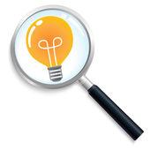 Idea light search — ストックベクタ