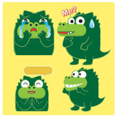 Crocodile Acting 03 — Stock Vector