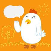Chicken Talk — Stock Vector