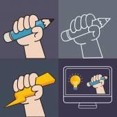 Screen sketching — Stock Vector