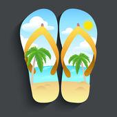 Beach slipper — Stock Vector