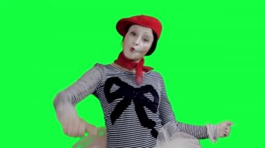 The mime showing thumbs up — Stock Video