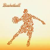 Abstract basketball player — Stock Vector