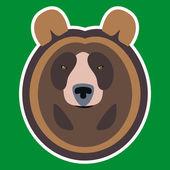 Brown Bear Head — Stock Vector