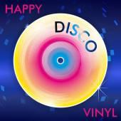Retro Disco Vinil — Stock Vector