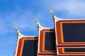 Gable and roof temple in Bangkok, Thailand — Стоковое фото