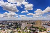 Bangkok City and Chao Phraya River — Stock Photo