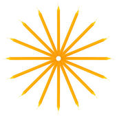 Yellow candle on a white background — Zdjęcie stockowe