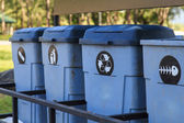 Different Bins For Collection Of Recycle Materials — Stock Photo