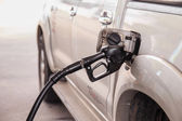 Close up car refuel — Stock Photo
