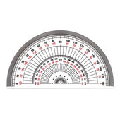 Full-Circle protractor isolated on white background — Stock Photo