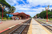 Royal pavilion at hua hin railway station. This Station was built in 1926 which is popular place for tourist to visit. on AUG 11, 2014 in Prachuap Khiri Khan, Thailand. — Stock Photo