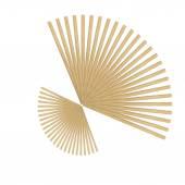 Abstrakt-Runde Holz Stick isoliert auf weißem Hintergrund — Stockfoto