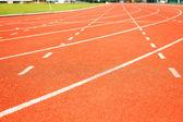 竞技体育的运行轨道 — 图库照片