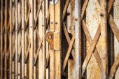 Old metal gate — Stock Photo