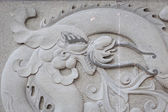 Close up granite carving in chinese temple — Stock Photo