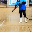 Floor cleaning with high pressure water jet — Stock Photo #59439553