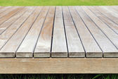 Grey wooden plank background and texture — Stockfoto