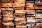Stack of wood logs for background — Stock Photo